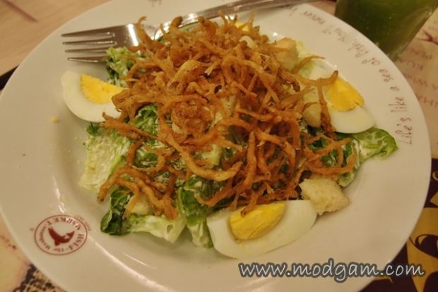 Caesar Salad with Crispy Whitebait