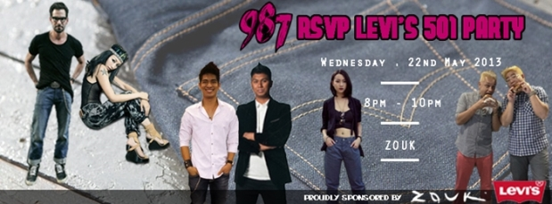 Levi's Party 8pm 22 May